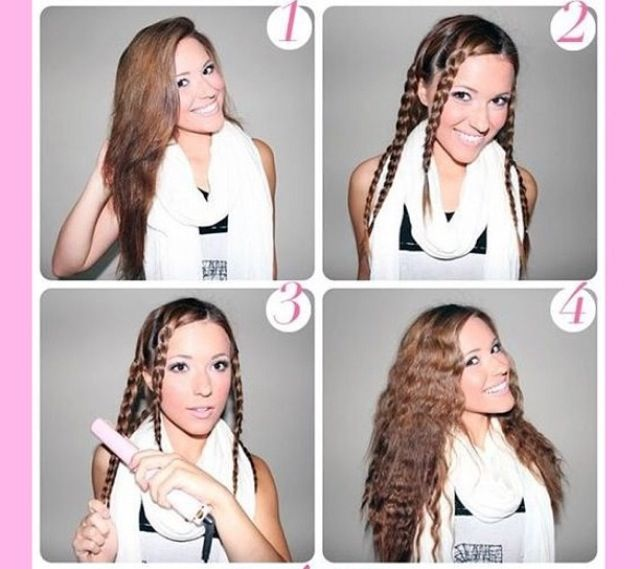 How To Crimp Hair With Flat Iron