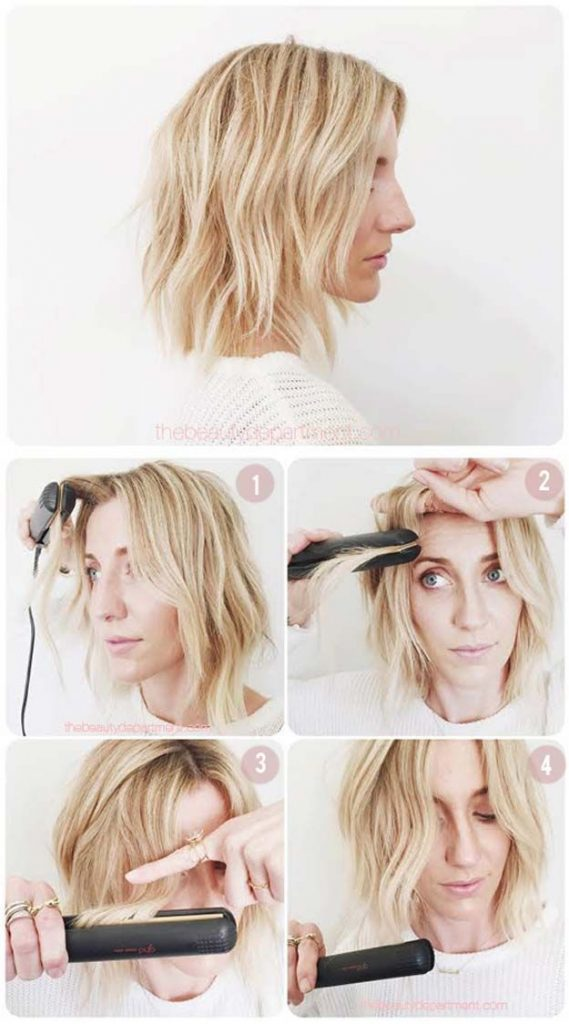 How To Curl Shoulder Length Hair With A Flat Iron