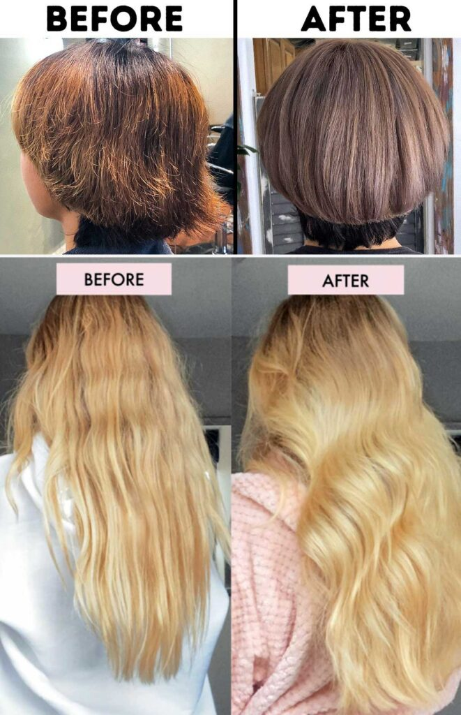 How To Fix Burnt Hair From Flat Iron step by step process